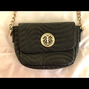 Handbags - Black Purse with Gold Detail